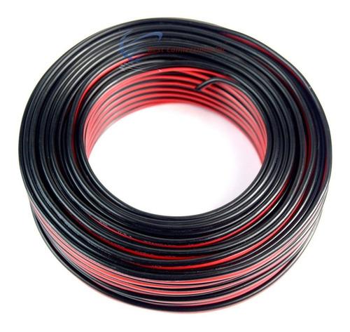 audiopipe 100 'pies 16 ga gauge rojo negro 2 conductor cable