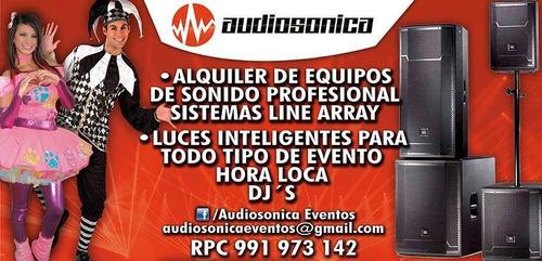 audiosonica eventos alquiler de sonido, música y visual