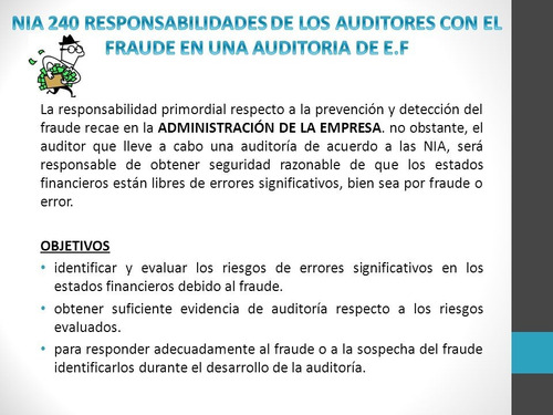 auditor: software detector de fraude financiero. odp ©