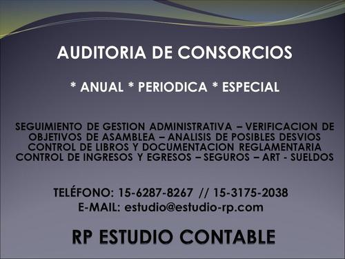 auditoría de consorcios