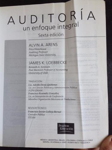 auditoria un enfoque integral - alvin a. arens - pearson