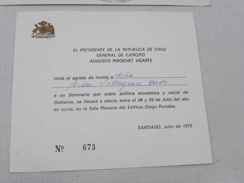 augusto pinochet. invitacion seminario y bono donacion (2)