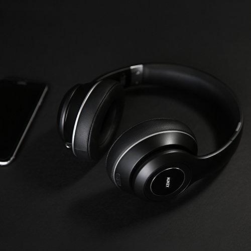 aukey auriculares bluetooth, plegable on-ear auriculares in