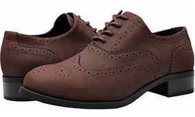 material seleccionado textura clara primera vista Aukusor Zapatos Oxford De Tacon Bajo Para Mujer, Anchos, Con