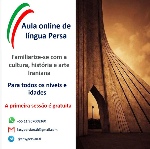 aula online de língua persa (farsi)