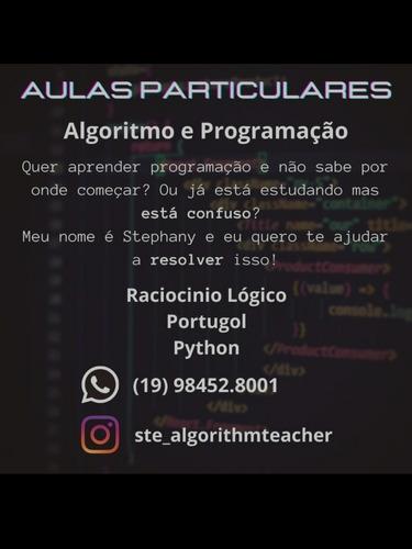 aula particular de lógica de programação