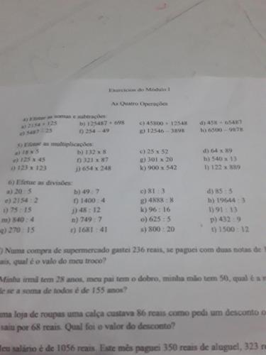 aula particular de matemática básica