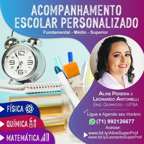 aula particular de matemática, química e física (online)