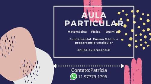 aula particular física química e matemática