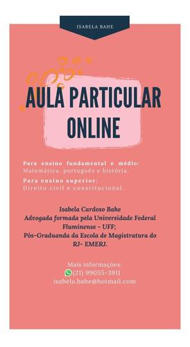 aula particular online de matemática, história e português