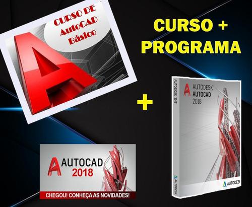 aulas + autodesk autocad 2018/32x64 bits/envio imediato