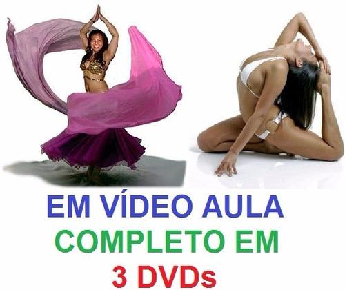 aulas dança do ventre + yoga - completo em 3 dvds lça