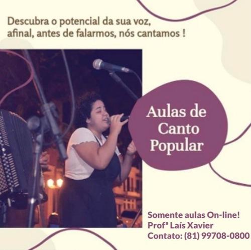 aulas de canto popular on-line