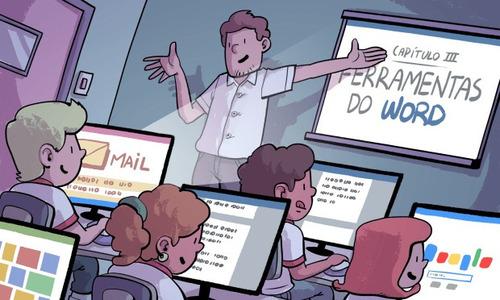 aulas de informática direcionadas p/as necessidades do aluno