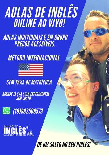 aulas de inglês on line ao vivo