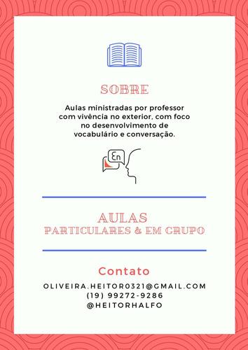 aulas de inglês particulares e em grupo