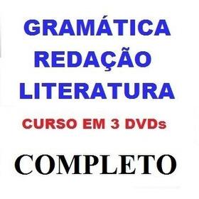 Aulas De Redação + Literatura + Gramática Curso Em 3 Dvds Jk