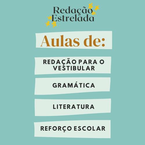 aulas de redação, português e reforço online