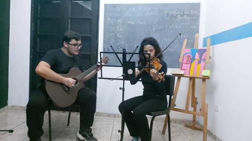 aulas de violino e violão