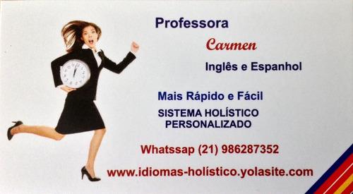 aulas inglês  -   mais rápido e fácil -   sistema holistico