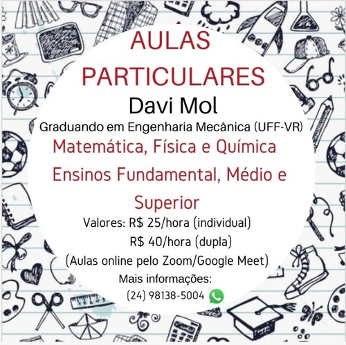 aulas online de matemática, física e química
