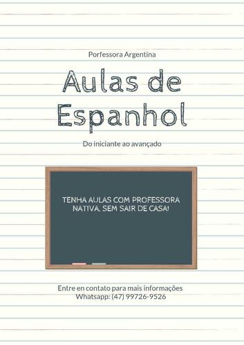 aulas particulares de espanhol - professora nativa