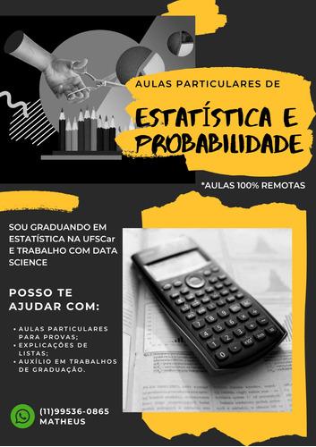 aulas particulares de estatística e probabilidade