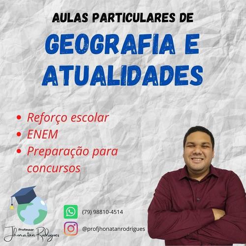aulas particulares de geografia e atualidades