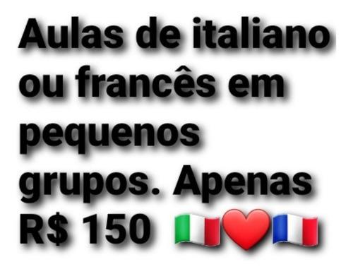 aulas particulares de italiano ou francês