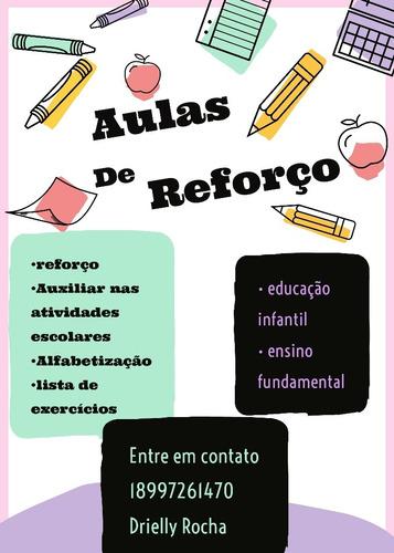 aulas particulares e reforço escolar