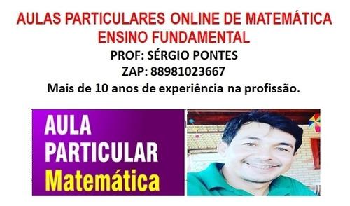 aulas particulares online de matemática, ensino fundamental.