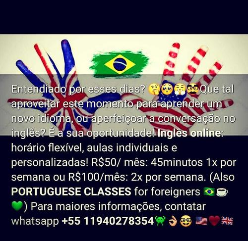 aulas particulares online ( inglês e português)