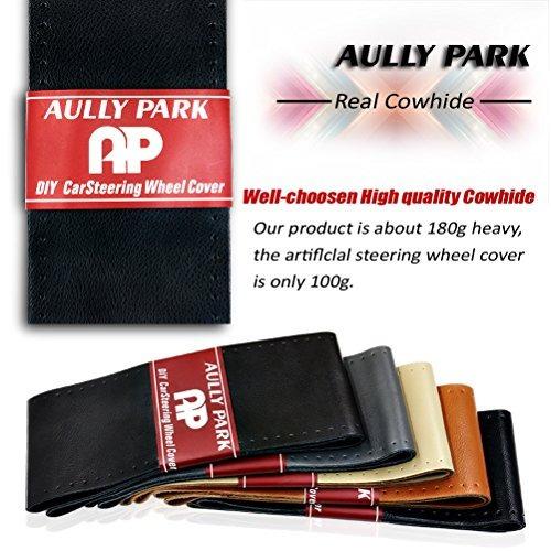 aully park cubierta del volante universal puntada de cuero g