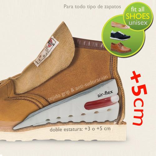 aumenta estatura +5cm plantilla ortopedica zapatos