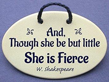 aunque ella sea pero poco ella es feroz - shakespeare. pla