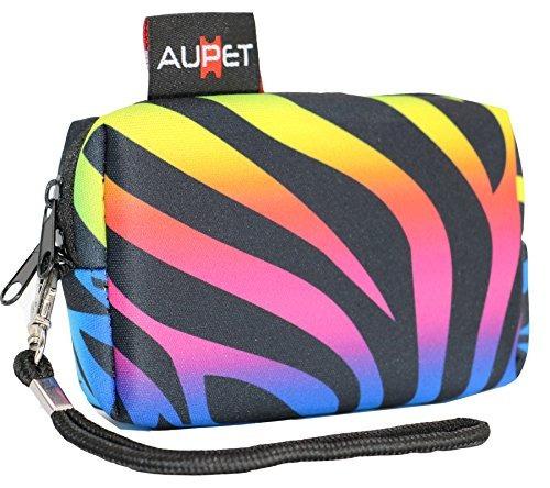 aupet zebra print design bolso de la caja de la cámara digi