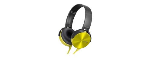 auricular amarillo diadema mdrxb450ap extra bass sony store