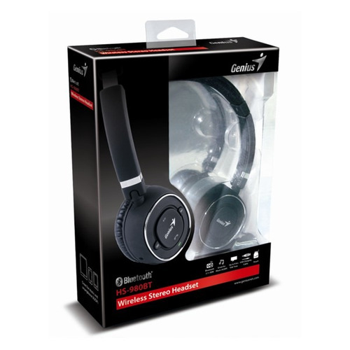 auricular bluetooth genius hs-908 bt c/ microfono 71/2 horas