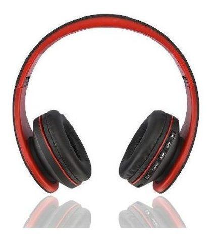 auricular bluetooth rojo y negro parquer