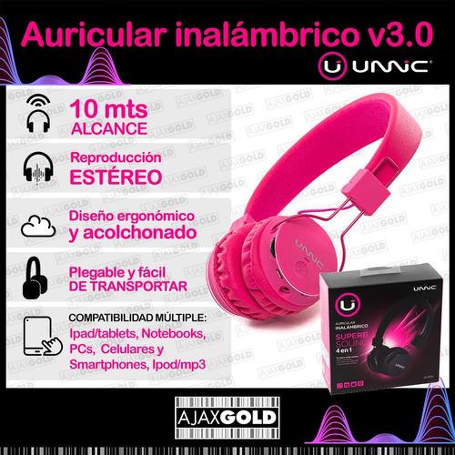 auricular bluetooth unnic inalambrico 3.0 musica celular
