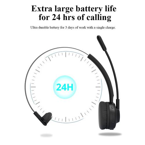 auricular bluetooth v5.0 de diadema tipo call center langsdo