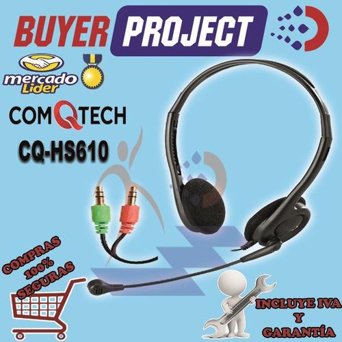 auricular con microfono comqtech cq-hs610 plug 3.5mm negro