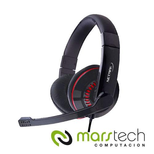 auricular con microfono gamer netmak squad extreme sound mar