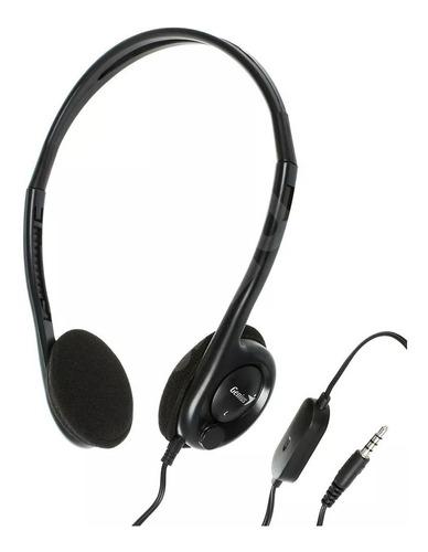 auricular con microfono genius hs-m200c plug 3.5mm negro