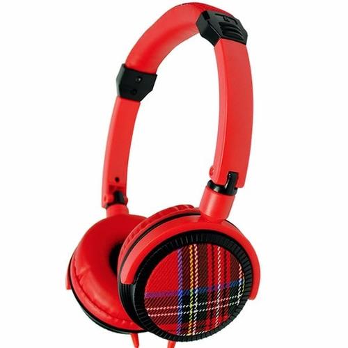 auricular cyw tartan red