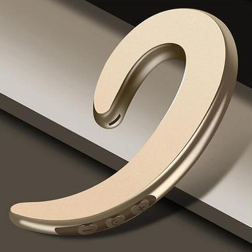 auricular de un solo lado de negocios dorado