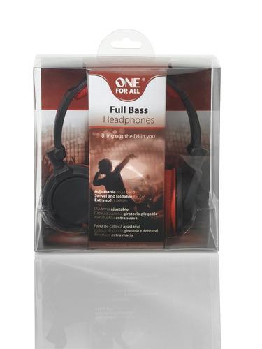 auricular dj rojo one for all sv5611 ipod/ipadvincha