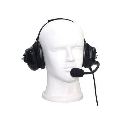 auricular dual acolchonado con micrófono flexible con canc