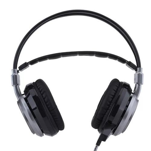 auricular gamer f45 con micrófono, vibración y luz (pc-ps4) dj