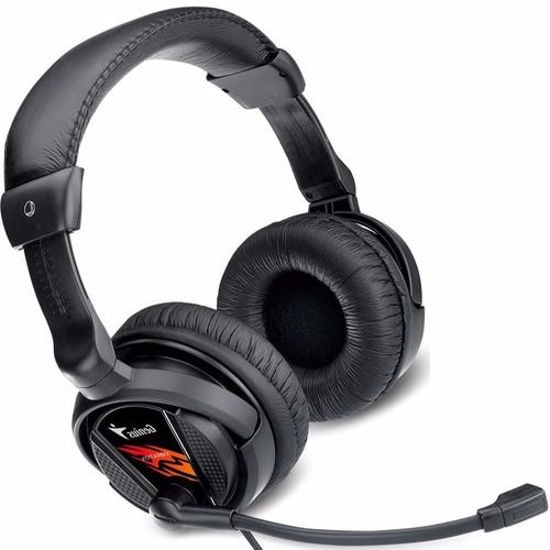 auricular gamer genius hs g500v vibración con micrófono